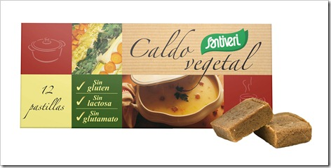 Caldo Vegetal sin gluten