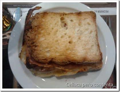 gluten free sandwich at Rodilla